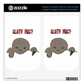 Sloth Hug Baby Sloth Sketch FreeAgent GoFlex Decals