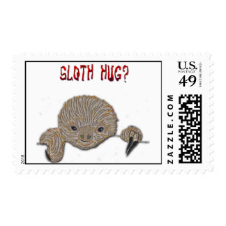 Sloth Hug Baby Sloth Stamps