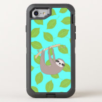 Sloth in Nature OtterBox Defender iPhone 8/7 Case