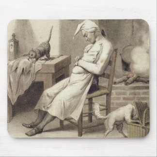 Sloth in the Kitchen, from a series of prints depi Mouse Pad