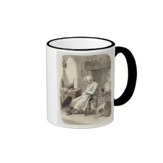 Sloth in the Kitchen, from a series of prints depi Ringer Coffee Mug