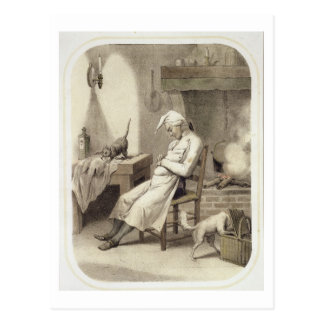 Sloth in the Kitchen, from a series of prints depi Postcard