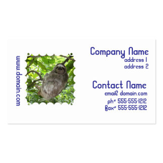 Sloth in Tree Business Cards