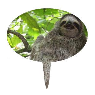 Sloth In Tree Cake Topper
