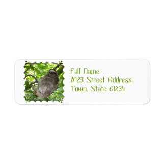 Sloth in Tree Label