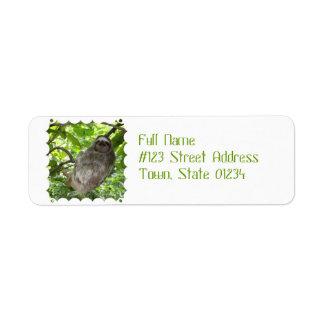 Sloth in Tree Return Address Label