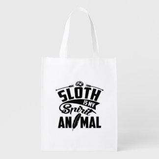 Sloth Is My Spirit Animal Reusable Grocery Bag