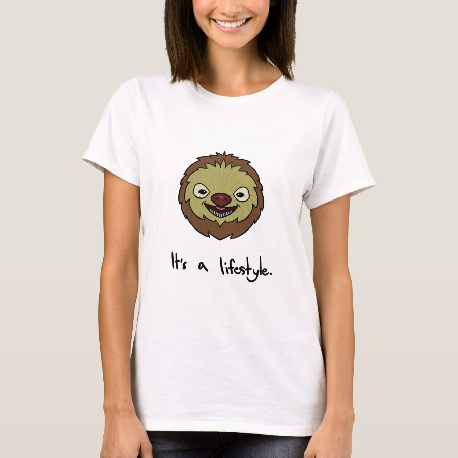 Sloth It's A Lifestyle Funny & Cute T-Shirt - Best Selling Long-Sleeve Street Fashion Shirt Designs