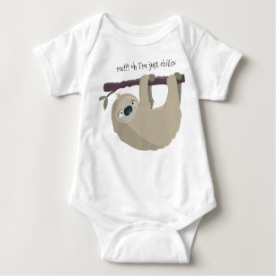 Huahai Newborn Baby Outfit Creeper Short Sleeves Bodysuits Cute Sloth Riding White Llama