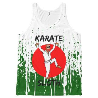 Sloth Karate All-Over-Print Tank Top