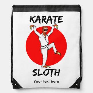 Sloth Karate Drawstring Backpack