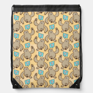Sloth Kill Chu Drawstring Bag