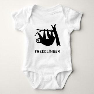 sloth lazy animal more climber more freeclimber fr baby bodysuit