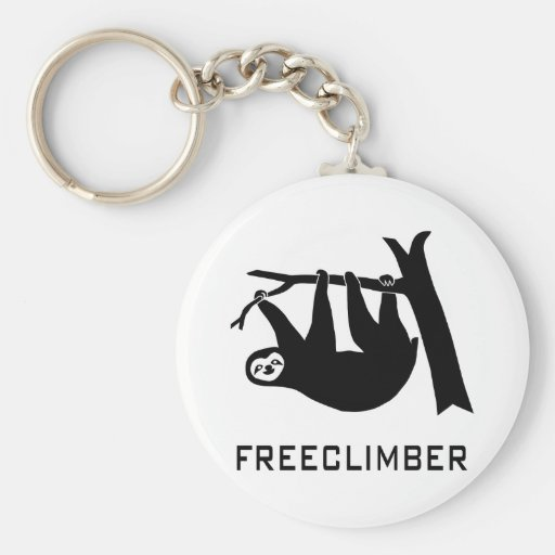 sloth lazy animal more climber more freeclimber fr basic round button keychain