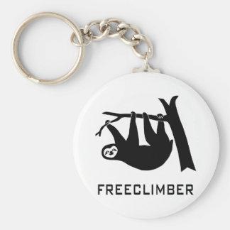 sloth lazy animal more climber more freeclimber fr keychain