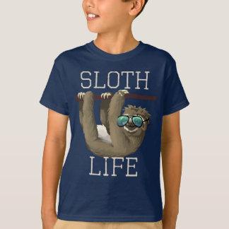 Sloth Life Funny Animal Sunglasses Kids Boys T-Shirt