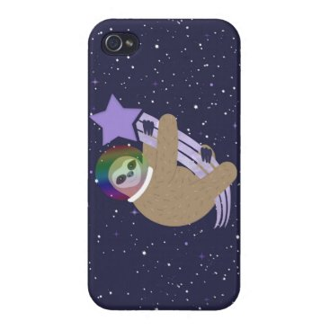 Sloth Life - Make a Wish Outer Space Case For iPhone 4