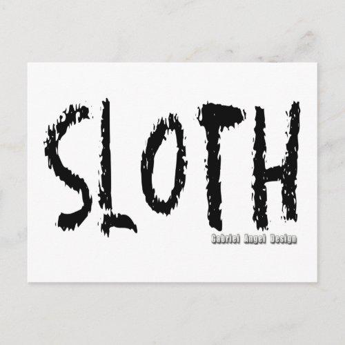 Sloth Logo Postcard