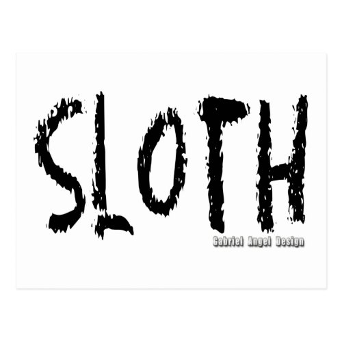 Sloth Logo Postcard