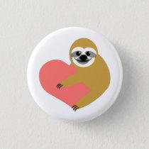 Sloth Love Button