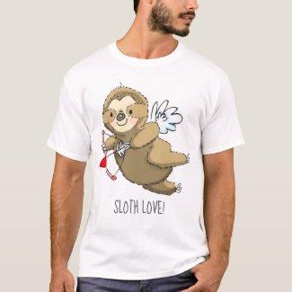 Sloth Love Cupid Valentine Shirt