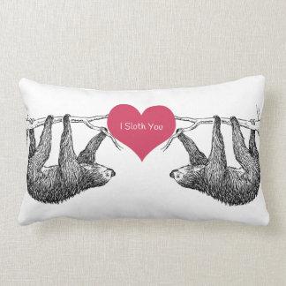 Sloth = Love Lumbar Pillow