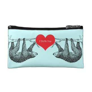 Sloth = Love Makeup Bag