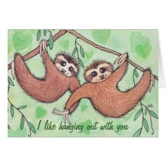 Sloth Love Valentine Card