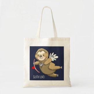 Sloth Love Valentine Cupid Tote Bag