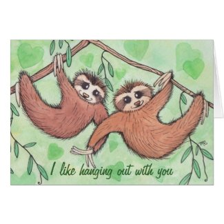 Sloth Love Valentine Greeting Card