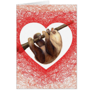 Sloth Love Valentine s Day Card