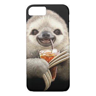 SLOTH and SOFT DRINK iphone case