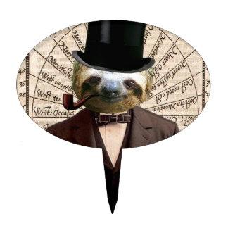 Sloth Man Victorian Steampunk Anthropomorphic Cake Topper