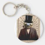 Sloth Man Victorian Steampunk Anthropomorphic Keychain