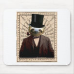 Sloth Man Victorian Steampunk Anthropomorphic Mouse Pad