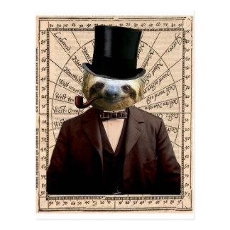 Sloth Man Victorian Steampunk Anthropomorphic Postcard