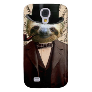 Sloth Man Victorian Steampunk Anthropomorphic Samsung Galaxy S4 Cover