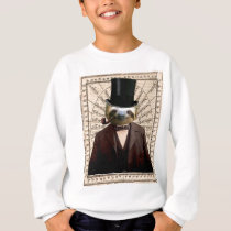 Sloth Man Victorian Steampunk Anthropomorphic Sweatshirt