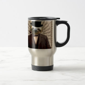 Sloth Man Victorian Steampunk Anthropomorphic Travel Mug