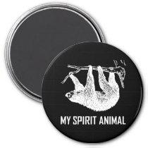 Sloth My Spirit Animal Funny Magnet