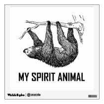 Sloth My Spirit Animal Funny Wall Sticker