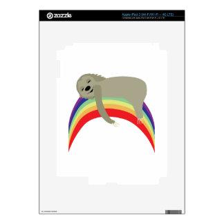 Sloth On Rainbow iPad 3 Skin