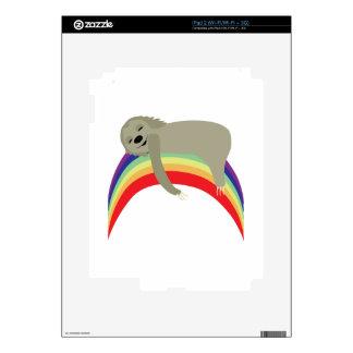 Sloth On Rainbow Skin For The iPad 2