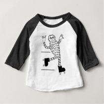 Sloth on Roller Skates Baby T-Shirt