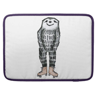 Sloth on Roller Skates Sleeve For MacBook Pro