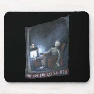 Sloth one of the original seven sins mouse pad