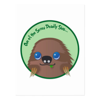 Sloth - One of the seven deadly sins Postcard