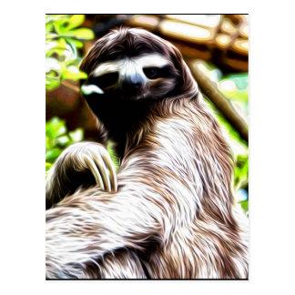 Sloth Painting Postcard