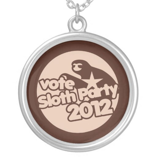 Sloth Party 2012 Custom Jewelry