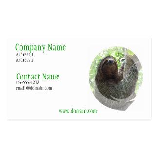 Sloth Photo Design Business Card